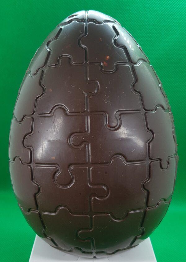 ou puzzle din ciocolata neagra